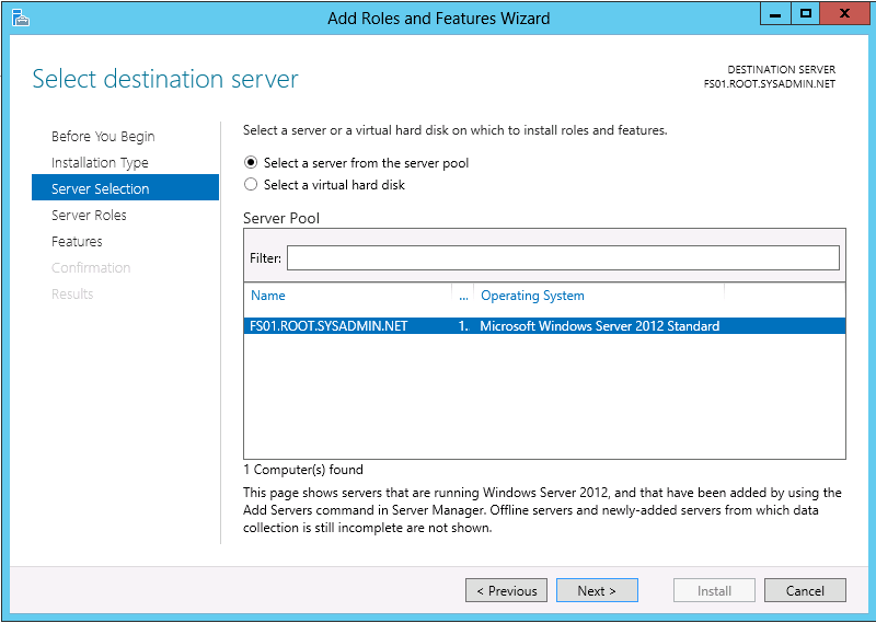 Microsoft Windows Server 2012 – Install Distributed File System (DFS