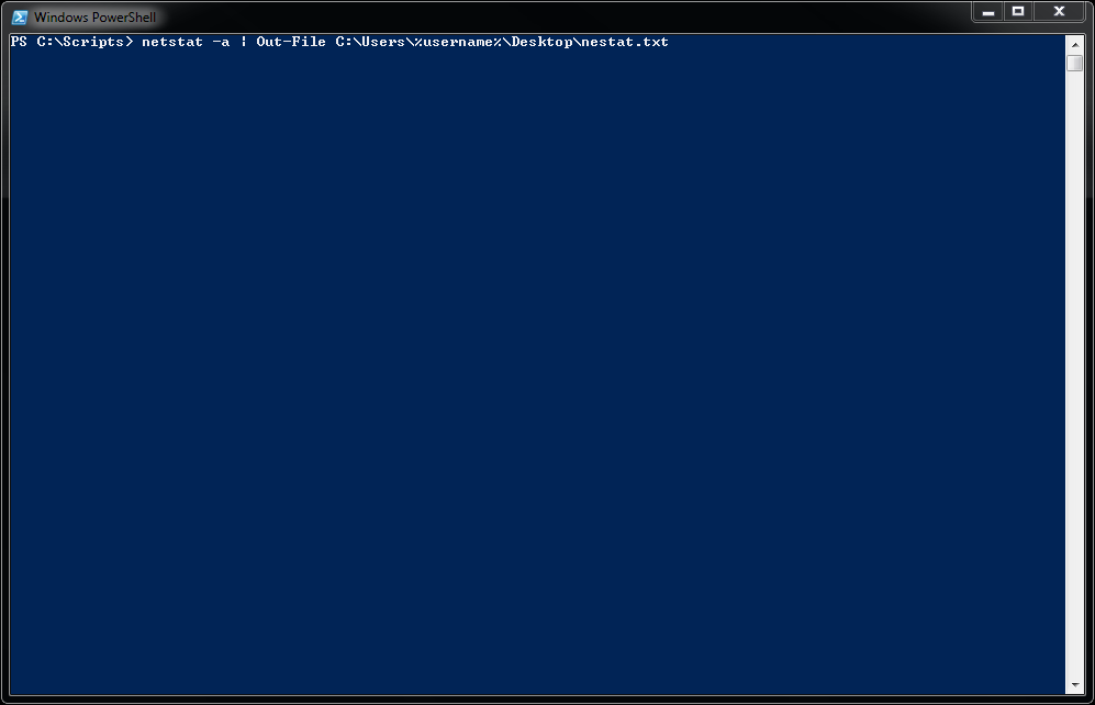how to get powershell output in text file