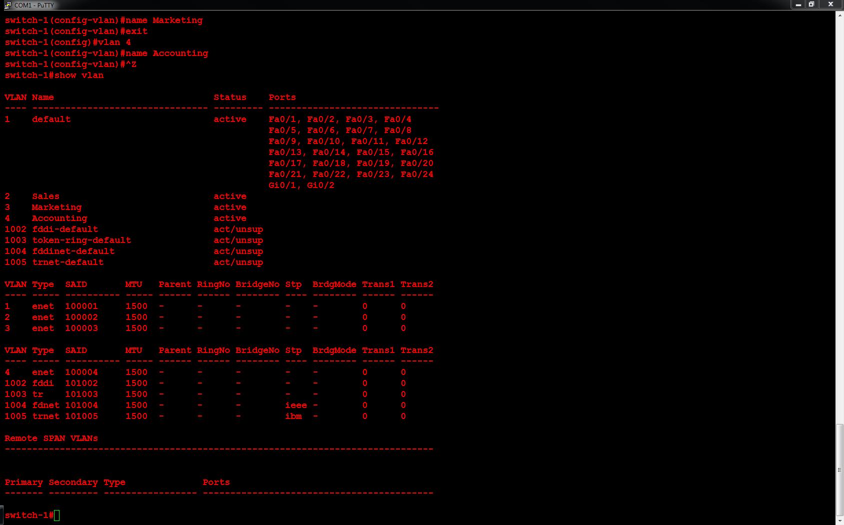 Cisco – Configure Cisco Catalyst 3560 VLANs - 02