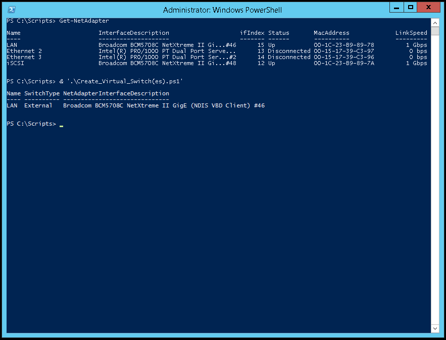 how to use a powershell script