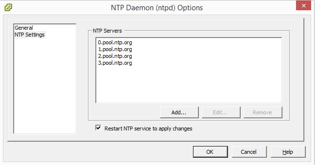 VMware ESXi 5 5 – Network Time Protocol (NTP) Configuration