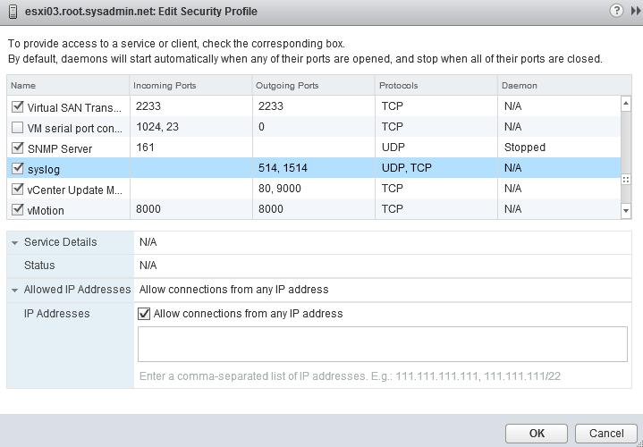 VMware ESXi 6 0 – Syslog Collector Configuration – Noel Alvarez